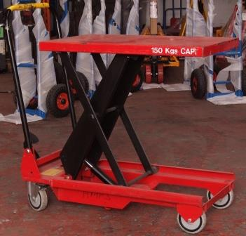 Used Mobile Scissor Tables - lifts 150kg - the UK's widest
