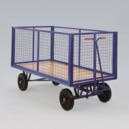 Heavy Duty Turntable Truck with Mesh Sides