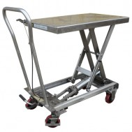 Stainless Steel Mobile Scissor Lift Table
