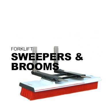 Forklift Sweepers and brooms