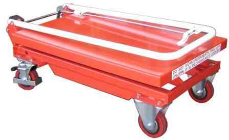 Mobile Scissor Lift Table with Folding Handle