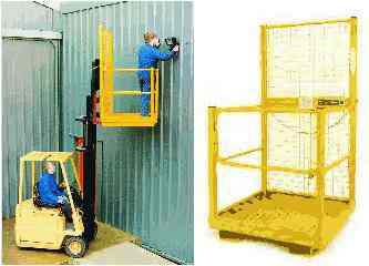 access platform safety cage