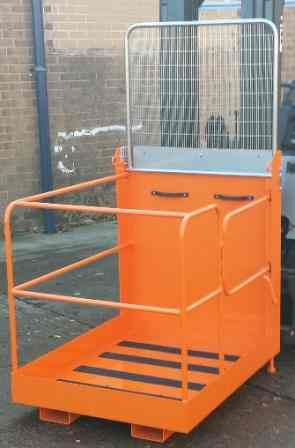 Larger Forklift Mounted Access Platform With Folding Back Guard & Side Gate