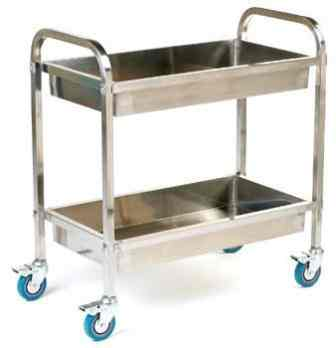Deep Shelved Stainless Steel Trolley