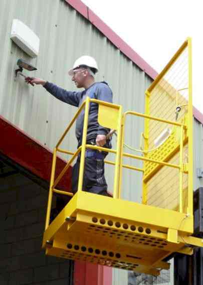 fork lift truck access platform safety cage