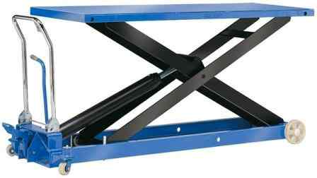 Large Platformed Hydraulic Scissor Lift Table