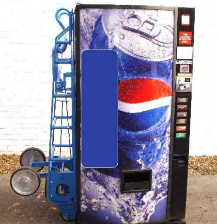 vending machine trolley with raised axle