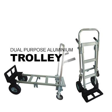 Dual Purpose Aluminium Trolley