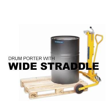 Wide Straddle Drum Porter