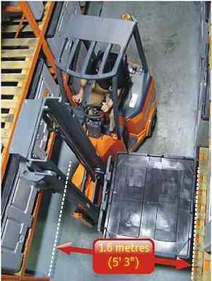 Articulated Very Narrow Aisle Forklifts Liftruck