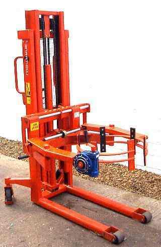 logitrans drum rotator handler stacker